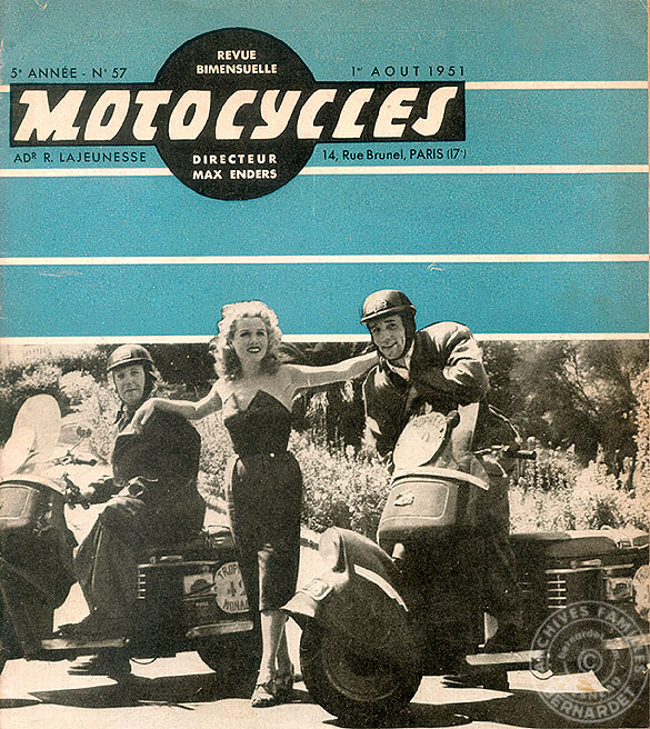 magazine scooters motocycles 1951